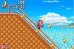 Screenshot for Sonic Advance on Game Boy Advance - on Nintendo Wii U, 3DS games review