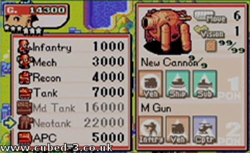 Screenshot for Advance Wars 2: Black Hole Rising - click to enlarge